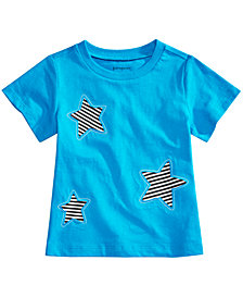 First Impressions Toddler Boys Cotton Star Patch T-Shirt, Created for Macy's