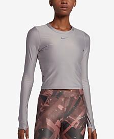 Nike Speed Metallic Cropped Running Top