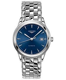Longines Men's Swiss Automatic Flagship Stainless Steel Bracelet Watch 38.5mm