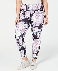 Ideology Plus Size Printed Cutout Ankle Leggings, Created for Macy's