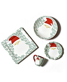 by Laura Johnson  Ho Ho Santa Dinnerware Collection