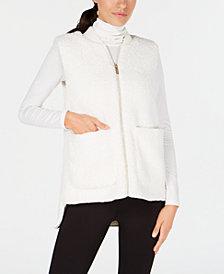 Calvin Klein Performance Fleece High-Low Hem Vest