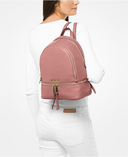7b9fb54bc ... discount code for michael kors rhea zip small pebble leather backpack  handbags d33c4 6ed75