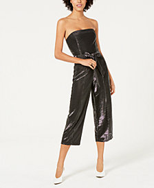 Lucy Paris Alex Metallic Sleeveless Jumpsuit