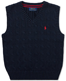 Polo Ralph Lauren Toddler Boys Cable-Knit Cotton Sweater Vest