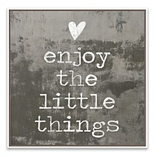 Enjoy The Little Things Framed Printed Canvas