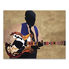 Simple Blues Boy Printed Canvas