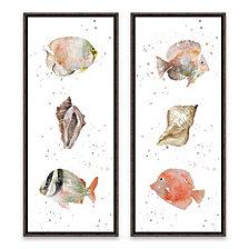 Coastal Medley Framed Printed Canvas