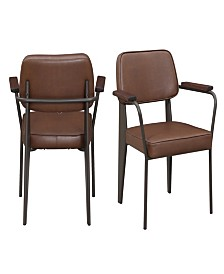 Ashtyn Faux Leather Fabric Chair Set