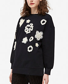French Connection Embellished Crew-Neck Top