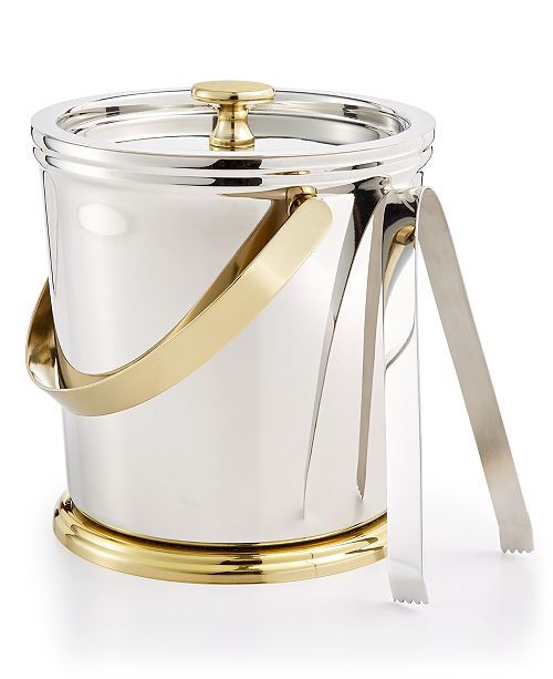 Martha Stewart Collection CLOSEOUT! Martha Stewart  Collection Pewter Ice Bucket, Created for Macy's