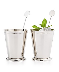CLOSEOUT! Martha Stewart Collection Set of 2 Mint Julep Glasses, Created for Macy's