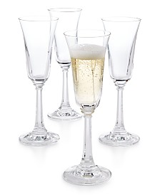 CLOSEOUT! Martha Stewart  Collection Set of 4 Champagne Flutes, Created for Macy's
