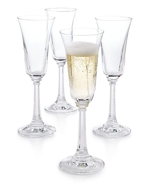 Martha Stewart Collection CLOSEOUT! Martha Stewart  Collection Set of 4 Champagne Flutes, Created for Macy's