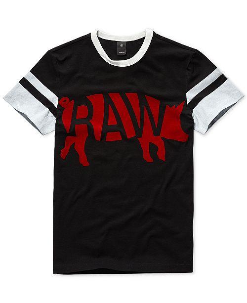 38361176335 G-Star Raw Mens Chinese New Year Velvet Flocked Graphic T-Shirt, Created