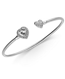 Danori Crystal Heart Cuff Bracelet, Created for Macy's