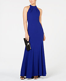 XSCAPE Halter-Neck Gown