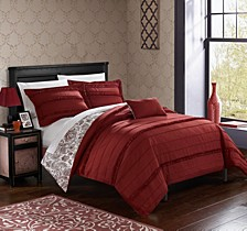 Eliza 8 Pc Queen  Duvet Set