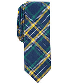 Penguin Men's Brenton Skinny Plaid Tie