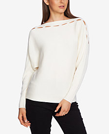 1.STATE Slit-Cutout Sweater