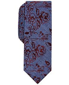 Original Penguin Men's Polke Floral Skinny Tie