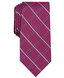 Nautica Men's Ballaine Slim Grid Silk Tie