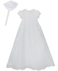 e57b296bb28 Rare Editions Baby Girls Christening Dress & Bonnet Set