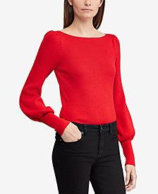Lauren Ralph Lauren Puffed-Sleeve Sweater