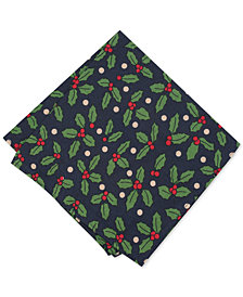 Bar III Men's Holly Pocket Square, Created for Macy's