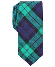 Bar III Men's Clifton Skinny Plaid Tie, Created for Macy's
