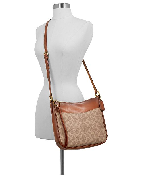 COACH Coated Canvas Signature Chaise Crossbody   Reviews - Handbags ... f811fc22d6ceb