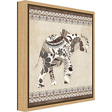 Amanti Art Boho Elephant I Neutral Canvas Framed Art
