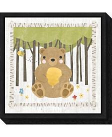 Amanti Art Woodland Hideaway Bear by Moira Hershey Canvas Framed Art