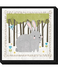 Amanti Art Woodland Hideaway Bunny by Moira Hershey Canvas Framed Art