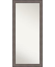 Country Barnwood Wood 29x65 Floor-Leaner Mirror