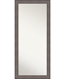 Amanti Art Country Barnwood Wood 29x65 Floor-Leaner Mirror