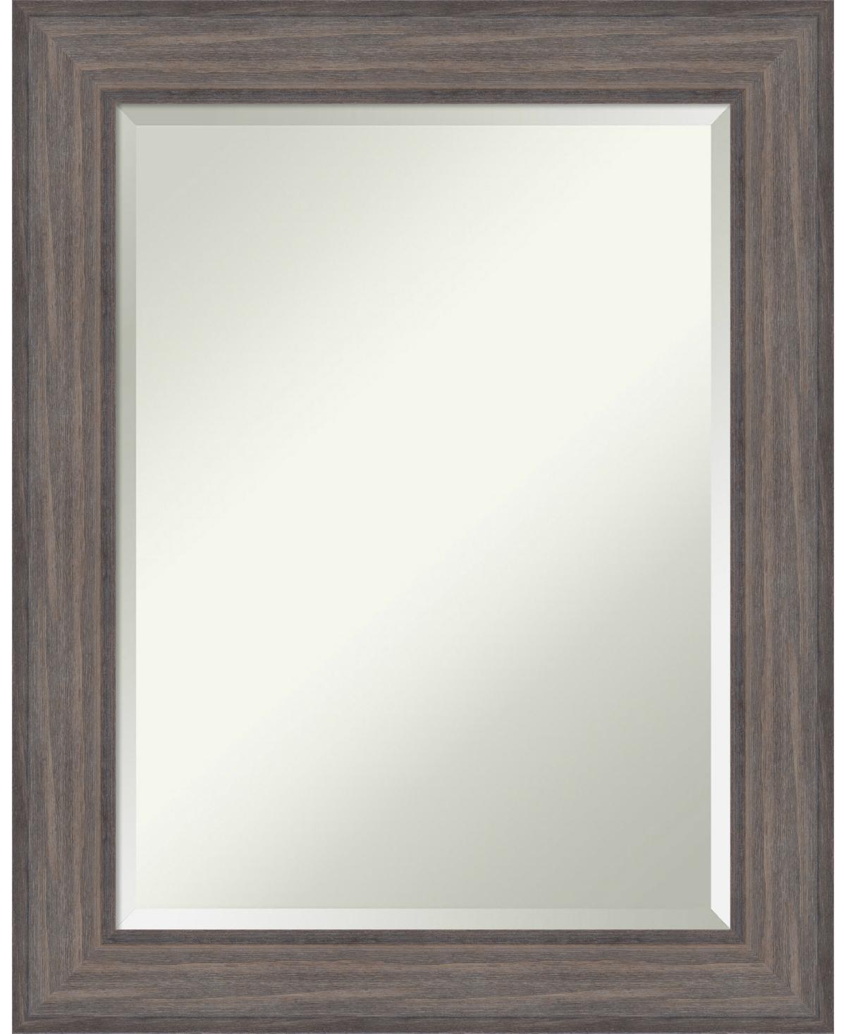 Amanti Art Country Barnwood 23x29 Bathroom Mirror