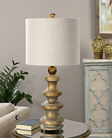 Guadalete Antiqued Gold Lamp