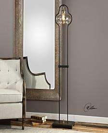 Uttermost Cotulla Amber Glass Floor Lamp