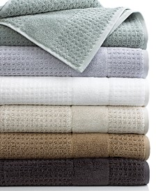 Cassadecor Checkered Bath Towel Collection, 100% Turkish Cotton