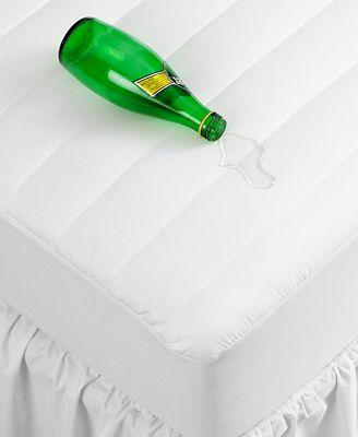 CLOSEOUT! Home Design Waterproof Twin Mattress Pad, Down Alternative Fiber Fill, Created for Macy's