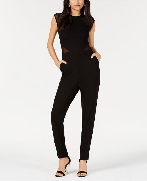 French Connection Illusion Crew-Neck Jumpsuit