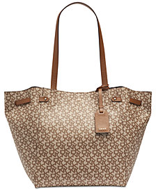 DKNY Ludlow Leather Signature Tote, Created for Macy's