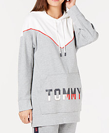 Tommy Hilfiger Oversized Logo Velour Lounge Hoodie