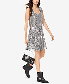 MICHAEL Michael Kors Sequined Slip Dress