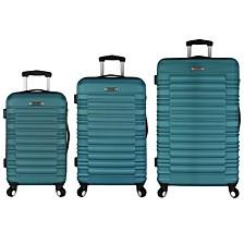 Elite Luggage Tustin 3PC Hardside Spinner Luggage Set