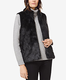 MICHAEL Michael Kors Faux-Fur-Front Sweater Vest, in Regular and Petite Sizes