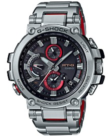 G-Shock Men's Solar Stainless Steel Bracelet Watch 51.7mm