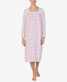 Eileen West Cotton Knit Ballet-Length Nightgown