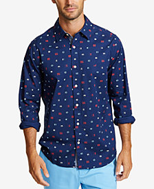 Nautica Men's Mini Flag-Print Shirt